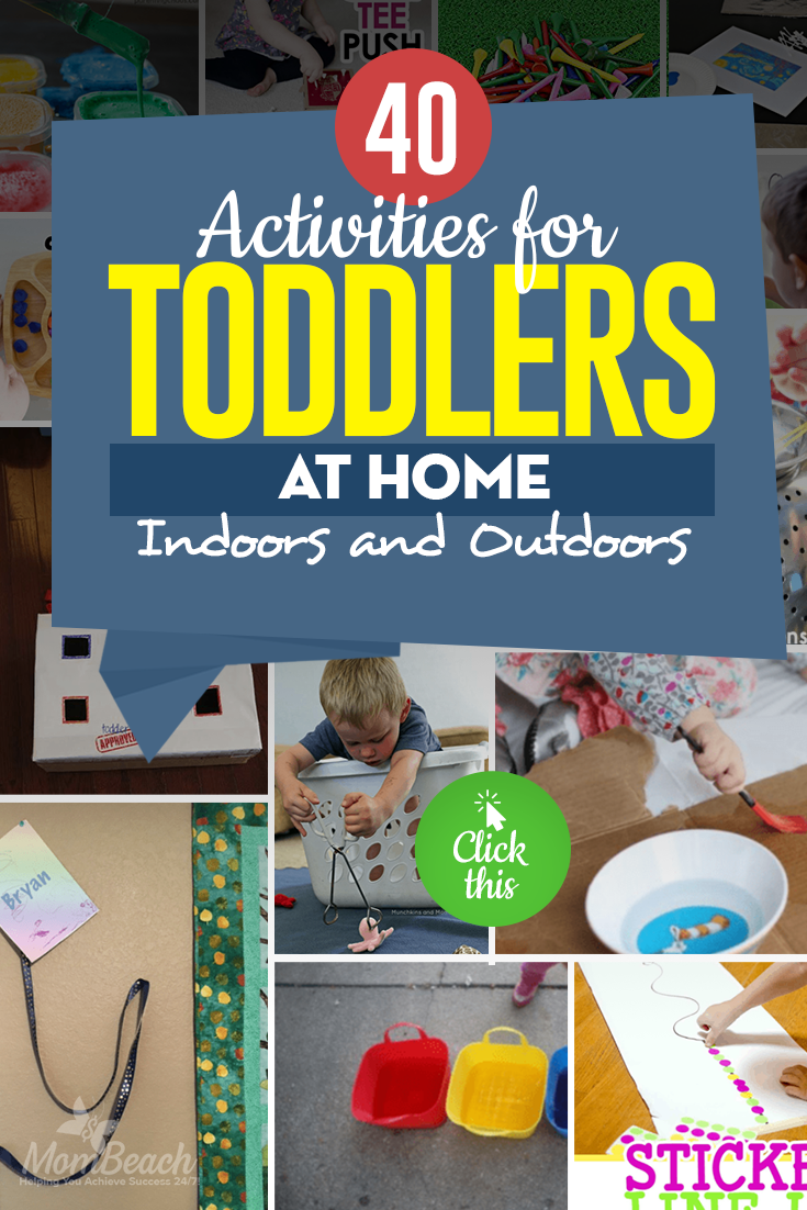 Keep your child entertained with these 40 activities! You will keep your sanity while your child is occupied indoors. These activities are perfect for 18 months, 2 year old, under 2 and 3. Girls and boys alike will enjoy these preschool activities that are educational. You can DIY to save money on crafts too. #toddleractivities #toddler18monthsactivities #toddler2yearoldactivities #educationaltoddleractivities #under2toddleractivities #preschooltoddleractivities