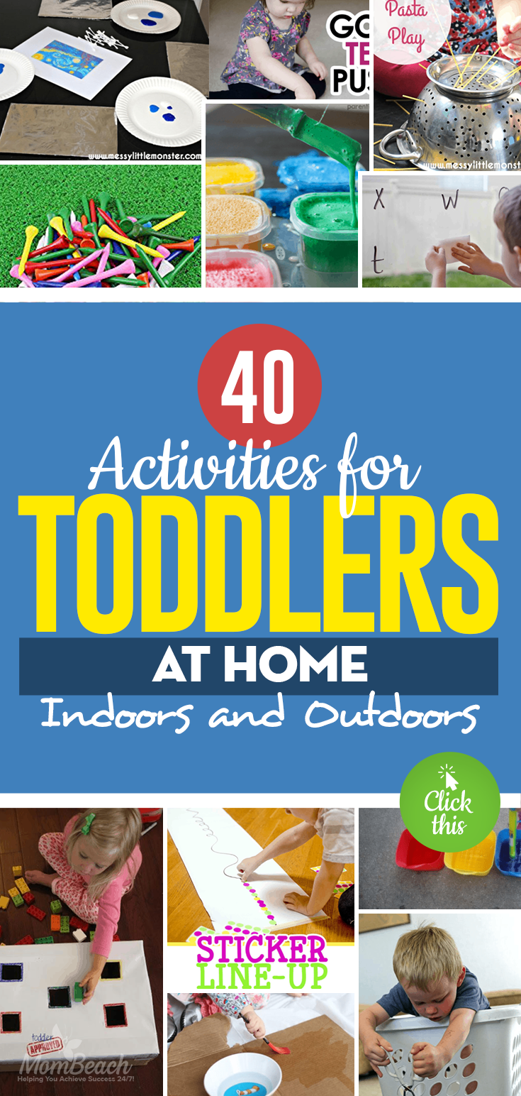 Is your child hard to keep entertained? You will keep your sanity while your child is occupied indoors. These activities are perfect for 18 months, 2 year old, under 2 and 3. Girls and boys alike will enjoy these preschool activities that are educational. You can DIY to save money on crafts too. #toddleractivities #toddler18monthsactivities #toddler2yearoldactivities #educationaltoddleractivities #under2toddleractivities #preschooltoddleractivities