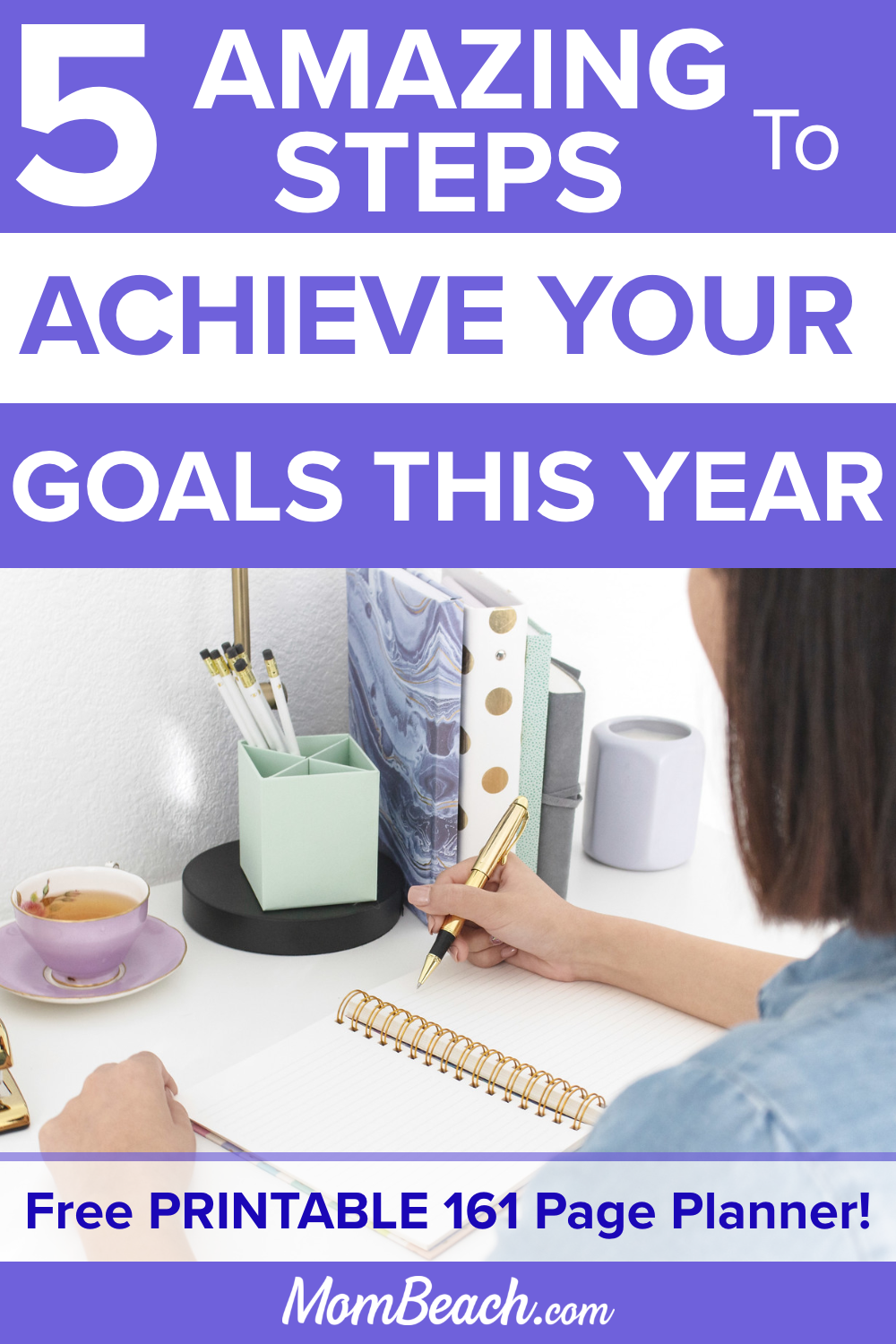 You won't believe how EASY it is to set goals for your life with these 5 hacks. You can achieve goals in your personal life so you can have a blessed future. Students, business owners, kids and more can benefit from goal setting to plan your future. Use these printable planner included to aid in your goal setting. #goalsetting #businessgoalsetting #personalgoalsetting #goalsettinghacks #goalsettingsteps #easygoalsetting #lifegoals #personalgoals #goals #howtoachievegoals #stepstoachievegoals