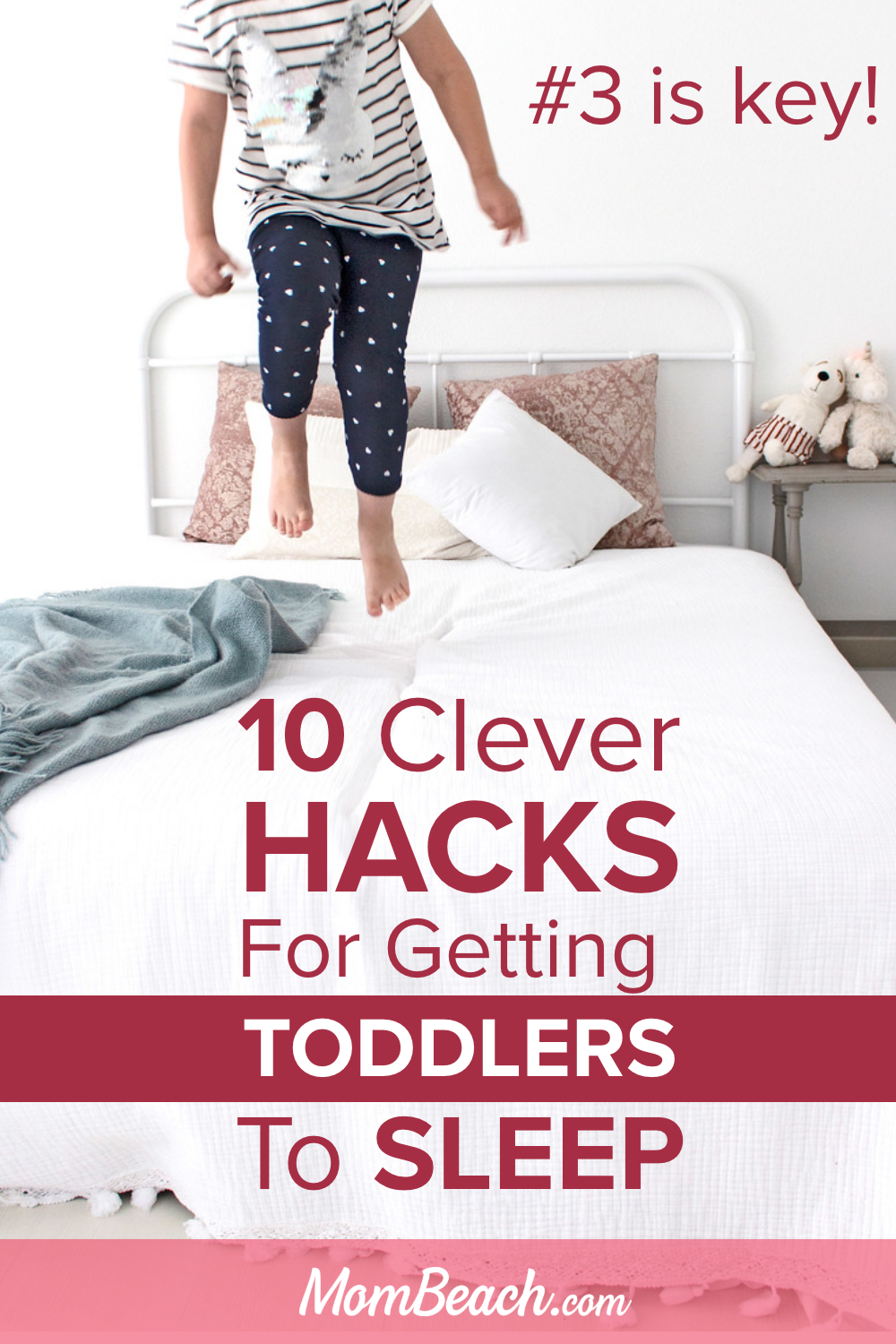 Get your toddler to sleep through the night with these clever hacks. It isn't funny when your toddler will not sleep and stays up all night. With sleep training, you can train your toddler to sleep in their own bed at night. #toddlersleep #toddlersleeptraining #toddlersleepthroughthenight #toddlersleepschedule #toddlersleepintheirownbed