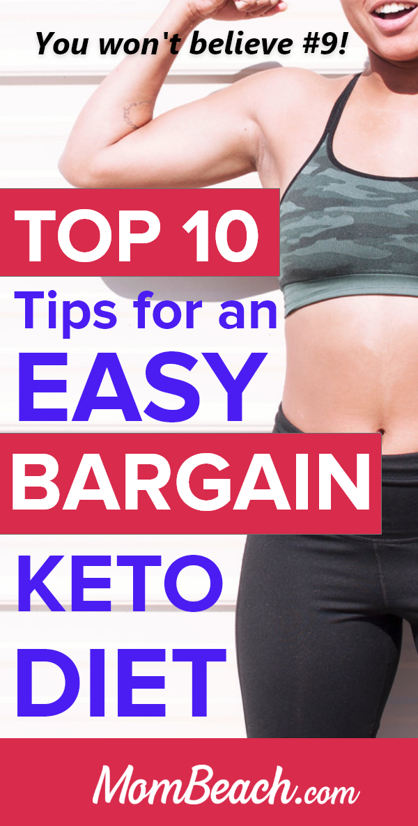OMG you can save money by following these 10 tips for an easy bargain keto diet. It is perfect for beginners and experts alike to follow. You can make cheap and easy meal plans, recipes and more for breakfast, lunch and dinner. You can eat low cost keto desserts and snacks too with this guide. Lose weight with the keto diet and don't empty your savings! #ketodietforbeginners #ketodietonabudget #lowcostketo #ketomealplan #ketodiet #keto #cheapketo #easyketo