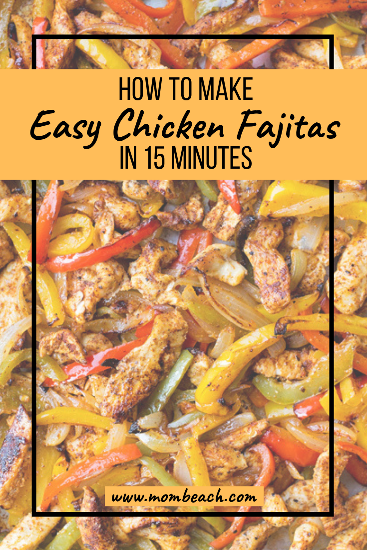 Try this yummy meal in a skillet or on the grill. It is perfect for busy moms on the keto diet. Chicken fajitas are such a wholesome meal that will please the pickiest of eaters and is a healthy meal option. #chickenfajitas #easymeals #15minutemeal #recipe #chickendinner #easyrecipes #ketorecipes