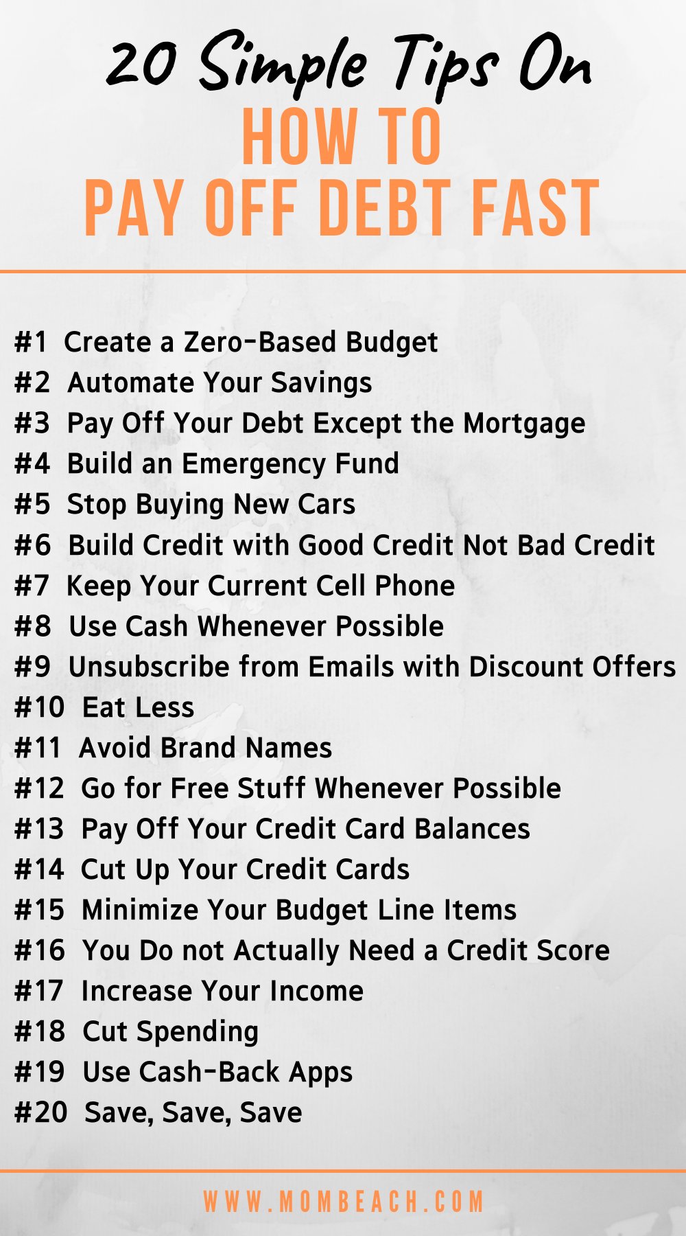 Check out these 20 super simple money tips from Dave Ramsey that he wants you to know now to save money and pay off your debt! Pay off your family's debt quick and easy by following Dave Ramsey's money saving tips. You can get out of your debt faster by following this financial guru's advice. #payoffdebt #debtpayoff #daveramsey #debtsnowball #moneysavingtips #budgeting #savemoney #howtosavemoney #financialpeace #debt