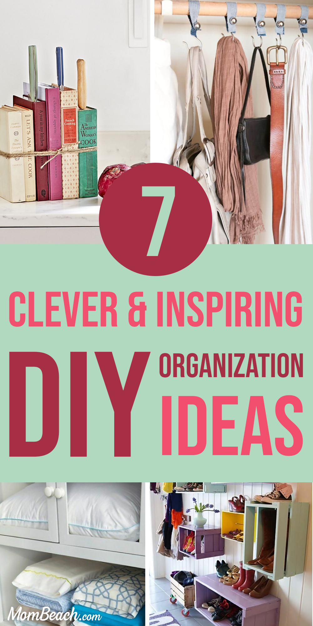 You won't believe these 7 clever and inspiring DIY organization ideas! Save money by DIY instead of spend hundreds at the Container Store. There are so many dollar store organization ideas that you will be shook! There are DIY organization ideas for the bedroom, for small spaces, for teens, bathrooms, the kitchen and the closet. There are even hacks for the apartment too. #diyorganization #diyorganizationideas #diyorganizationhacks #diyorganizationforsmallspaces #diyorganizationdollarstore