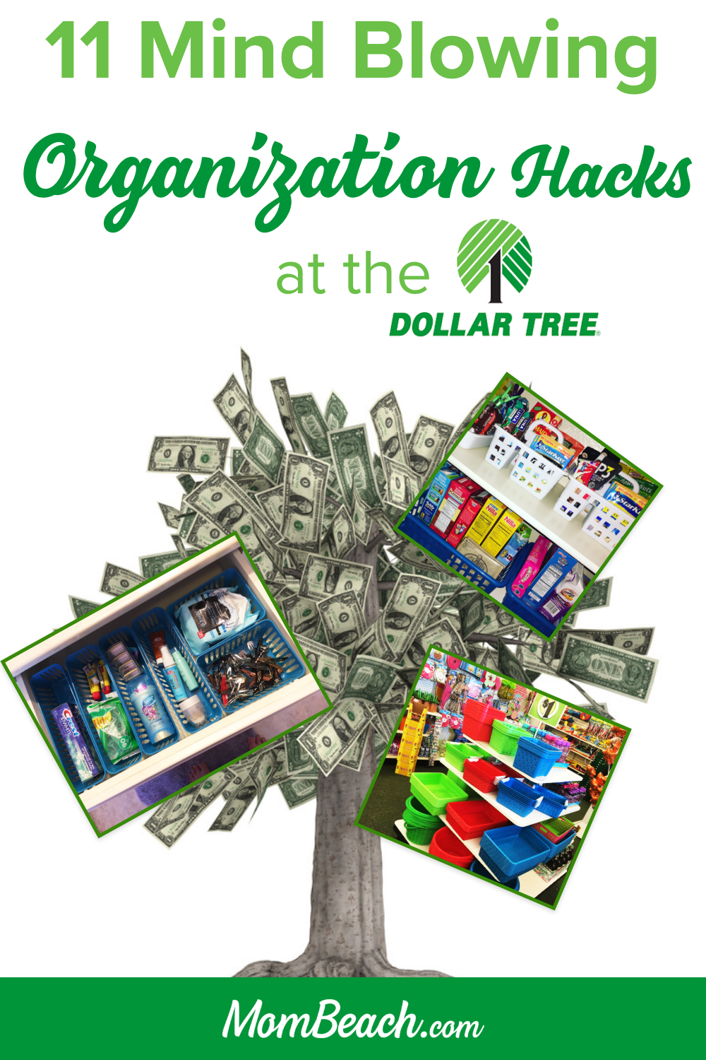 These Dollar Tree organization hacks and ideas are perfect for the kitchen, bathroom, bedroom, closet, pantry, kids are more! This is a 100% original content post. Get your home organized and save money today with containers from the dollar store. #dollartreeorganization #dollartreeorganizationideas #organizationideas #kitchenorganization #bathroomorganization #bedroomorganization #closetorganization #pantryorganization