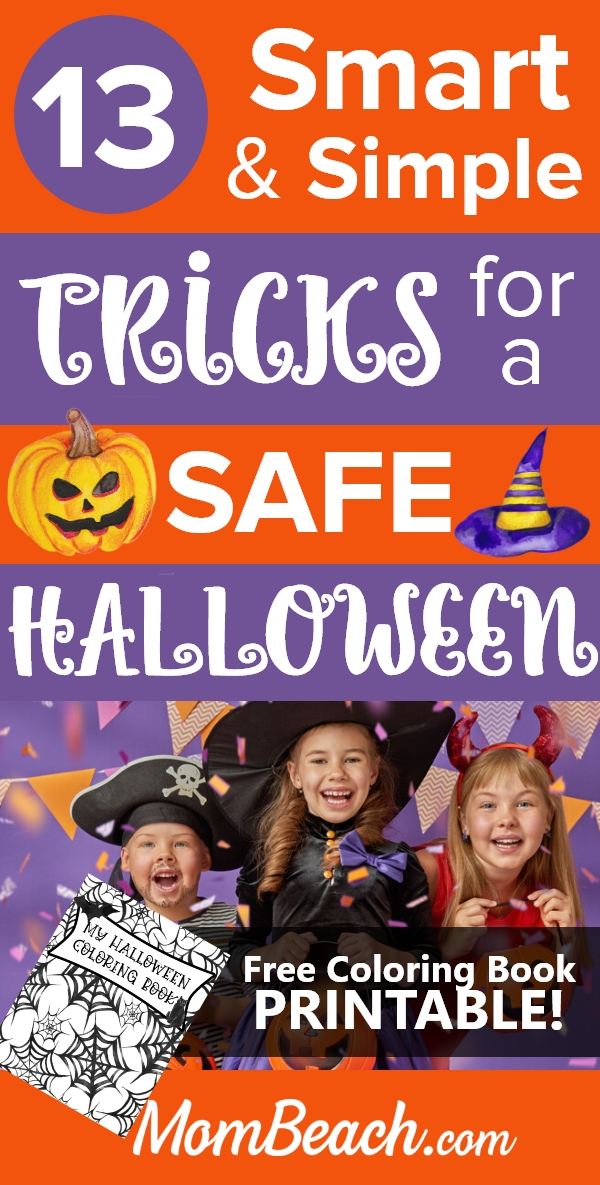 Get a spooky FREE Halloween coloring book journal printable with this guide on keeping kids safe on Halloween. Halloween costumes, decorations, and more could pose a threat to children. Find out how to keep kids safe on Halloween! #halloweentips #halloween #halloweensafety #halloweencostumes #halloweendecorations #halloweenfantasias #halloweenparty #halloweendiy #halloweenart #halloweenprintables