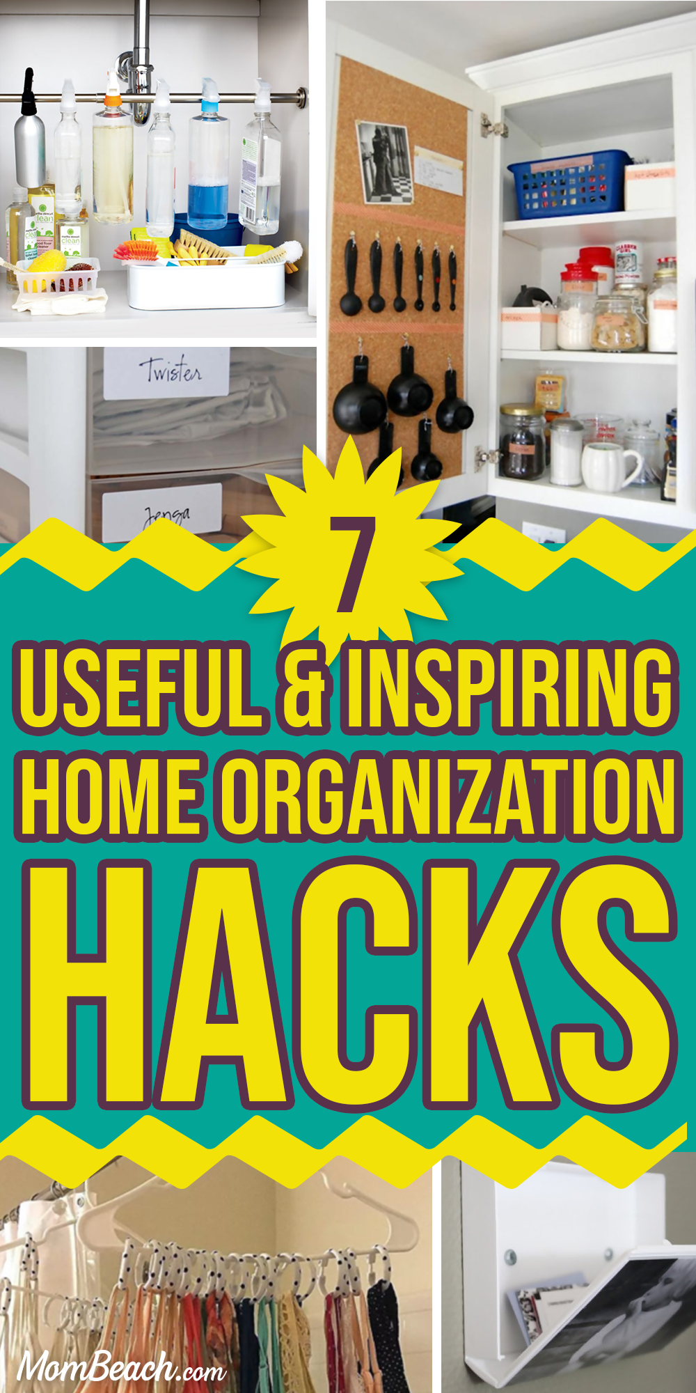 You won't believe how useful and inspiring these 7 home organization hacks are. Get organized and decluttered right away by utilizing these amazing ideas. Whether you are wanting to DIY or on a budget, you will find these ideas to be super helpful. Organize your closet, bathroom, bedroom, apartment and more with these clever hacks. #homeorganization #homeorganizationhacks #homeorganizationideas #homeorganizationdeclutter #homeorganizationdiy #homeorganizationonabudget
