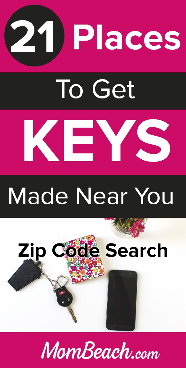 Are you losing your keys all the time? These 21 places to get keys made near you will help. Do your kids keep hiding your keys? Get duplicate keys made! Our guide has a zip code search. #keys #losingkeys #keysmade #getkeysmadenearme #zipcodesearch