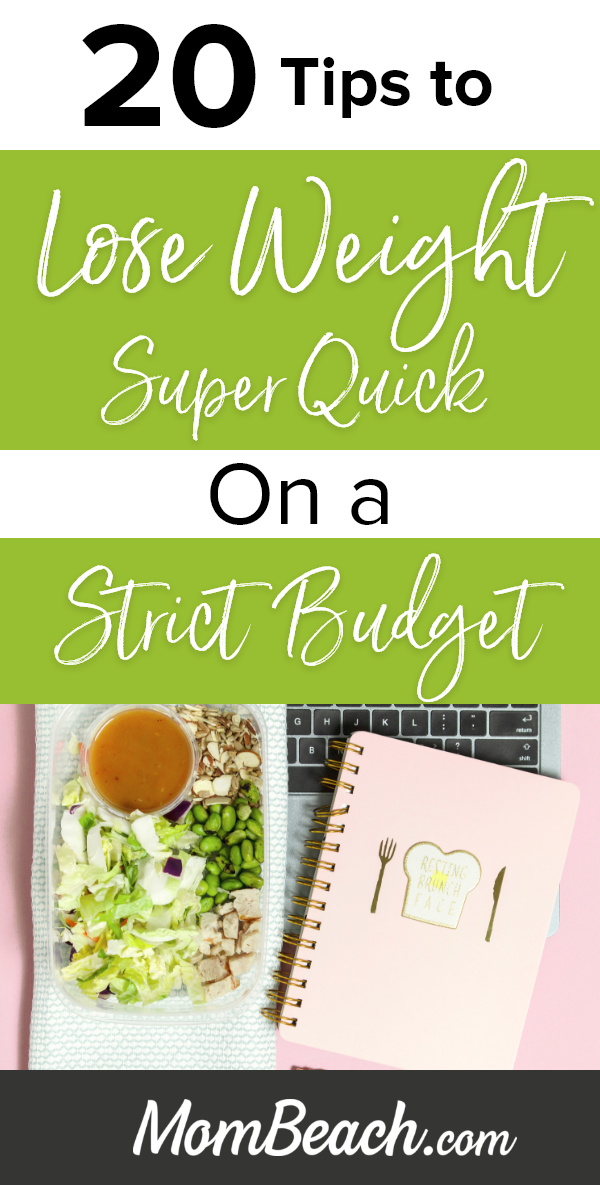 These 20 amazing tips will help you lose weight super quick while on a strict budget. You can use grocery lists, meal plans, cleanses, and more to get rapid weightloss. You can also follow tips for a exercise program that will get you results for life. There are some great products to purchase to help you and recipes to try to get back in shape. #loseweightonabudget #grocerylists #mealplan #loseweight #weightlosstips #budget #health #budgetweightloss #savemoney