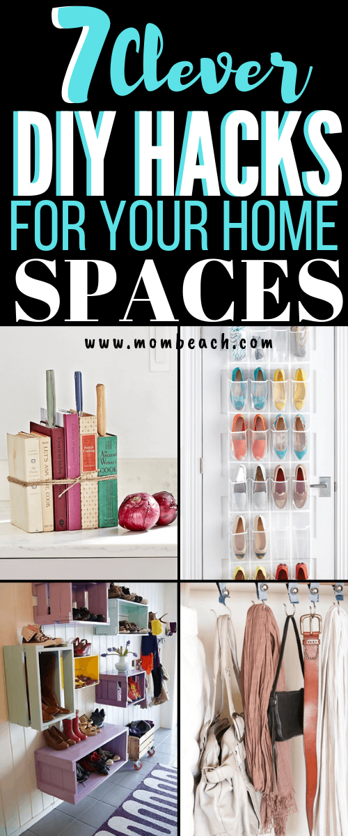These 7 DIY organization ideas are AMAZING! Save money by DIY instead of spend hundreds at the Container Store. There are so many dollar store organization ideas that you will be shook! There are DIY organization ideas for the bedroom, for small spaces, for teens, bathrooms, the kitchen and the closet. There are even hacks for the apartment too. #diyorganization #diyorganizationideas #diyorganizationhacks #diyorganizationforsmallspaces #diyorganizationdollarstore